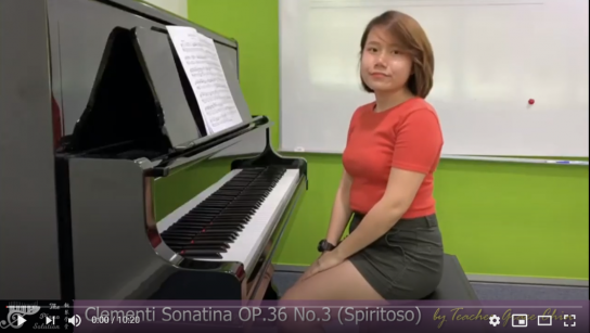 Practice 1 - Clementi Sonatina OP.36 NO.3 Spiritoso by Ms Grace