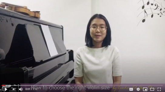 How to choose the right violin size by Teh Yan Shin (EN)