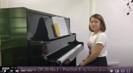 Practice 5 - Sonatina OP.20 No.1 by Ms Grace
