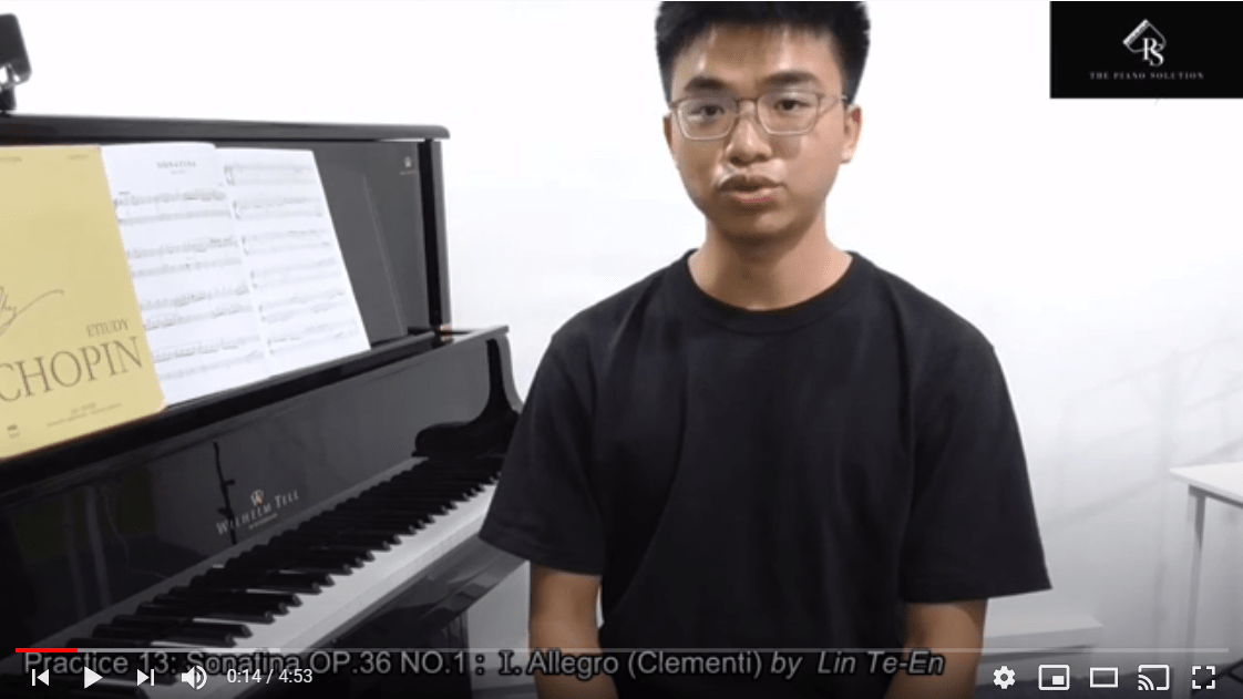 Practice 13 - Sonatina OP 36 NO 1 : I. Allegro Clementi by Mr Lin