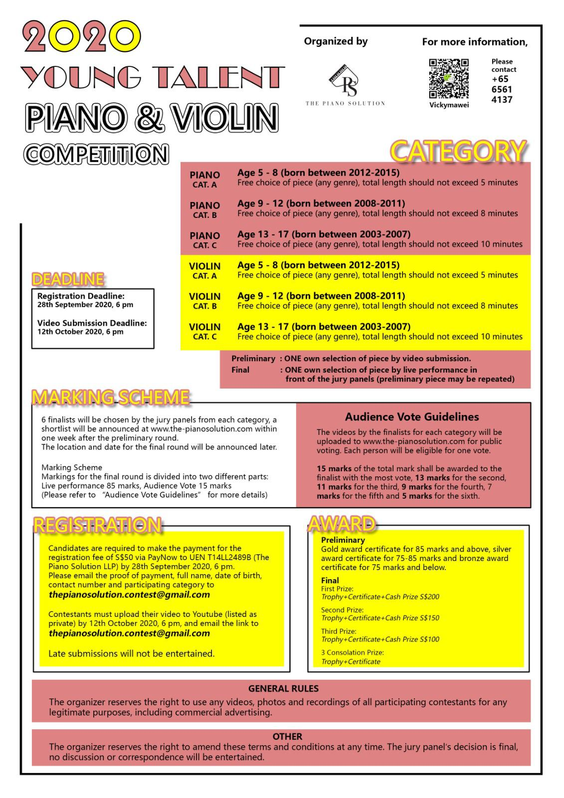2020 YOUNG TALENT PIANO & VIOLIN COMPETITION